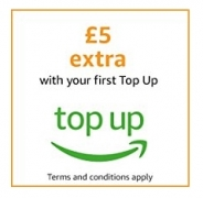 Get £5 Extra with Your First Top Up at Amazon