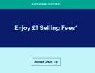 Enjoy £1 Selling Fees on eBay – Ends Soon