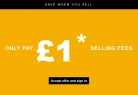 Sell for £1 Max Final Value Fee on Up to 100 Listings at eBay – from 13 – 14 May