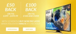 £100 Back on TVs £500, and £50 Back on TVs £299 – £499.99 with Code on BNPL at Very