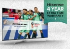 Get Extra 4 Year Warranty on Selected Hisense TVs at Amazon