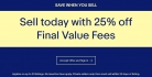25% Off Final Value Fees When You Sell on eBay – 2 Days Only