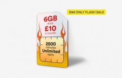 6GB Data, 2500 Mins & Unlimited Texts ONLY £10 a Month at Virgin Media – FLASH SALE