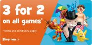 3 For 2 on All Games at Toys R Us