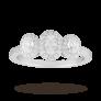 Oval Cut Three Stone 0.85 Carat Diamond Ring in 18 Carat White Gold £1,625 @ Goldsmiths