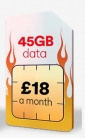 45GB Data, 5000 Mins & Unlimited Texts ONLY £18 a Month at Virgin Media