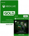 FREE 1 Month Xbox Game Pass with Xbox Live 3 Month Gold Membership £14.99 at Amazon