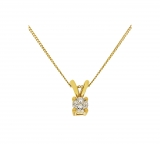 Revere 9ct Gold 0.10ct Diamond Solitaire Pendant £64.99 (was £249.99) at Argos 😍 – £221 at Amazon