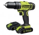 Guild 1.5AH Li-ion Hammer Drill and 2 18V Batteries £55.99 at Argos