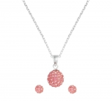 Revere Kid's Silver Pink Crystal Ball Pendant & Earring Set £8.99 at Argos