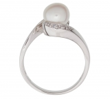 Revere Sterling Silver Freshwater Pearl & CZ Crossover Ring £8.99 at Argos
