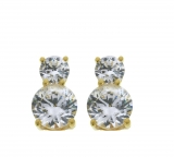 Revere 18ct Gold Plated Silver 2.00ct Look CZ Earrings £8.99 at Argos ❤ ❤ ❤