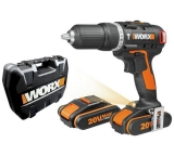 WORX Cordless Hammer Drill with 2x 20V Batteries £64.99 at Argos