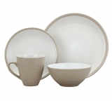 Argos Home Ribbed 16 Piece Dinner Set – Warm Natural £19.99 at Argos