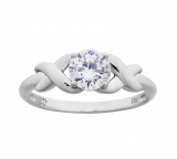 Revere Platinum Plated Silver Cubic Zirconia Kiss Ring £11.99 at Argos