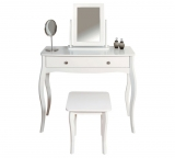 Amelie Dressing Table, Mirror and Stool – White £135.20 (£142.15 Delivered) w/code + £10 Voucher @ Argos