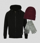 Borg Lined Hoodie + FREE Hat + FREE Gloves + FREE Shipping for £24.99 with Code at Tokyo Laundry