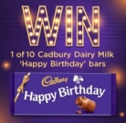 Win One of Ten Dairy Milk Happy Birthday Bars at Cadbury