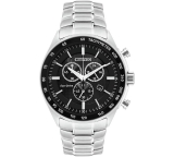Citizen Men's Eco-Drive Black IP Chronograph Bracelet Watch AU1065-58E £124.99 @ Argos