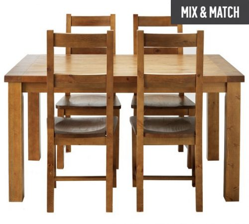 Collection Arizona Solid Pine Dining Table 4 Chairs 80 99 At