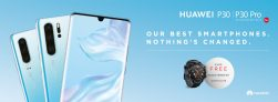 FREE Huawei Watch GT (worth £179) with Huawei P30 or P30 Pro Handsets
