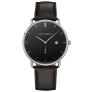 Watch Grand Atlantic Line Black Sea Stainless Steel Leather Watch Strap Black £110.00 @ Paul Hewitt