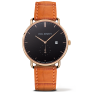 Watch Grand Atlantic Line Black Sea IP Gold Leather Watch Strap Embossed Cognac £110.00 @ Paul Hewitt