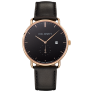 Watch Grand Atlantic Line Black Sea IP Gold Leather Watch Strap Black £210.00 @ Paul Hewitt
