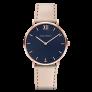 Watch Sailor Line Blue Lagoon IP Rose Gold Leather Watch Strap Hazelnut £149.95 @ Paul Hewitt