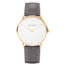 Watch Sailor Line White Sand IP Gold Leather Watch Strap Grey £149.95 @ Paul Hewitt