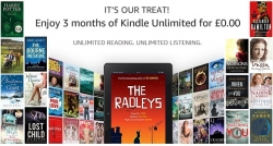 Get 3 Months of Kindle Unlimited for Free (worth £23.97) at Amazon