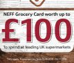 Claim up to £100 Free Grocery Card When You Buy Selected Neff Appliances