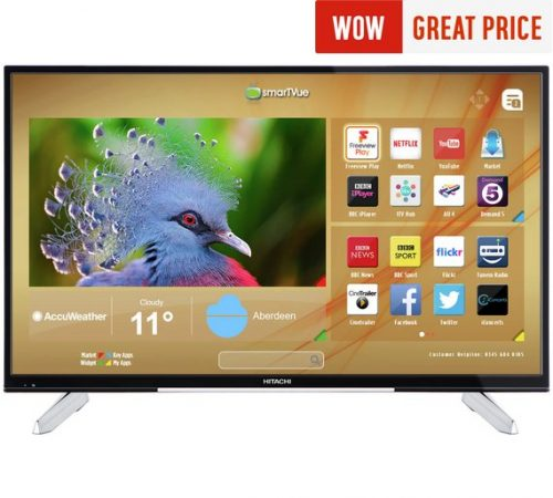 Hitachi 43 Inch 4k Ultra Hd Smart Led Tv On Sale For Only 24999 At