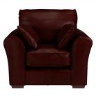 John Lewis Leon Leather Armchair, Dark Leg, Miracle Brown £399 at John Lewis