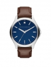 Armani Exchange Blue Dial Brown Leather Strap Mens Watch £79 with Code at Very