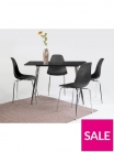 San Fran 120 cm Dining Table + 4 Chairs – Black £199 at Very.co.uk