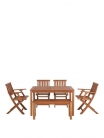 Lingfield Wood Outdoor Dining Set with Picnic Bench and Chairs £199.99 with Code at Very