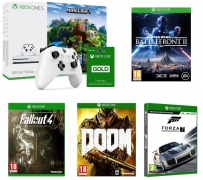 Xbox One S with Minecraft + Xbox LIVE Gold Membership 3 Month Subscription + Xbox Wireless Controller + Fallout 4 + Doom + Star Wars Battlefront 2 + Forza Motorsport 7 £250 at Currys
