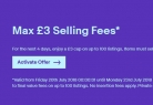 Max £3 Selling Fees on eBay – 20th – 23th July – NOW LIVE!