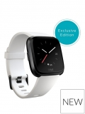 Fitbit Versa (White/ Black Aluminium) with additional Mesh Band £229 @ Very