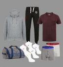 The Ultimate Gym Kit: 1 x Hoodie, 1 x T-Shirt, 1 x Joggers, 1 x Gym Bag, 1 x (2 pack) Boxers, 1 x (5 pack) Socks = £50 Delivered with Code at Tokyo Laundry