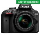 £50 Off Nikon D3400 Digital SLR Cameras with Code at Argos