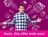 Unlimited 76Mb Fibre Extra Broadband + Line Rental £31.99 for 12 Months with £15 Activation Fee Plusnet