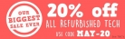 20% Off All Refurbished Tech with Code at Music Magpie