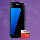 Samsung Galaxy S7 Smartphone + FREE Samsung 64GB microSD Card £374.98 at BT Shop