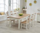 40% Off Sandringham 180cm Oak and Cream Extending Dining Table with Chairs