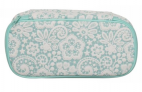 WHSmith Lace Floral Embossed Pattern Pre-Filled Zipped Pencil Case Mint Green £8.54 at WHSmith eBay