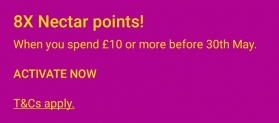 8X Nectar Points When You Spend £10 or More at Ebay