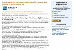 Get £15 Off Orders £25+ with Code When You Use Your American Express Membership Rewards at Amazon – Limited Time Offer