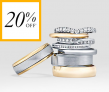 20% off Wedding Rings with Code @ Goldsmiths